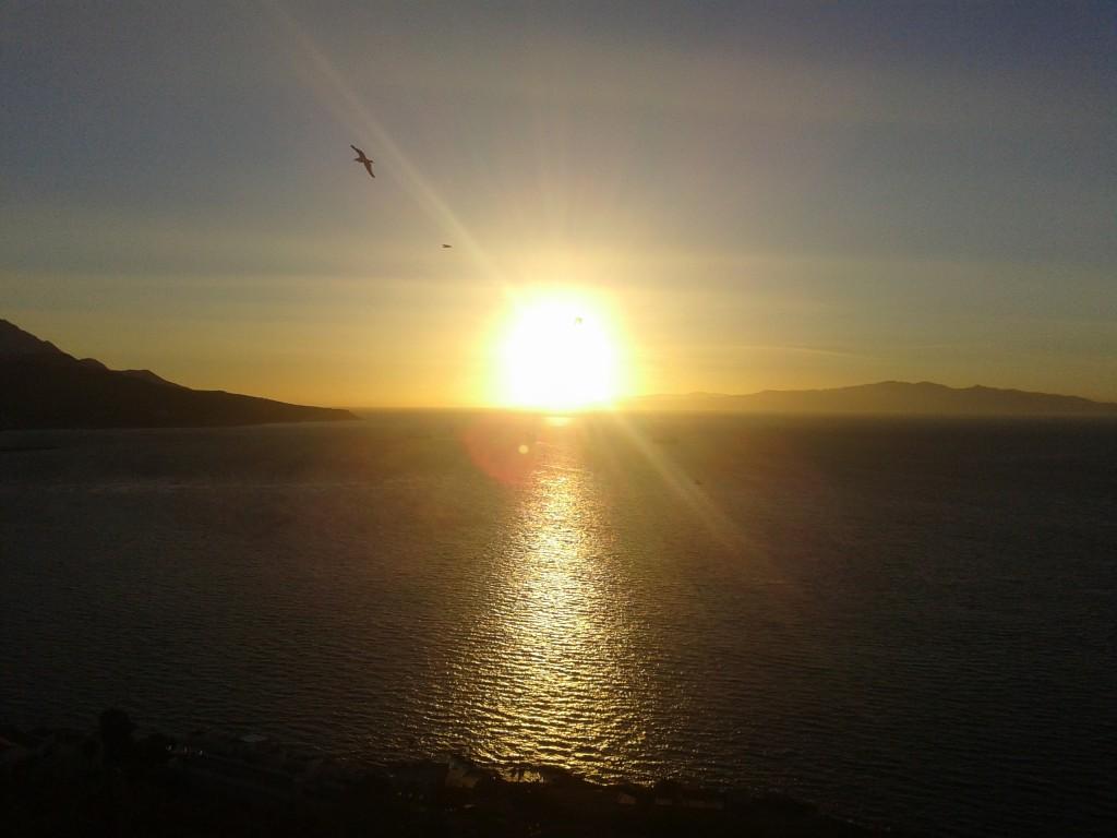Atardecer desde Ceuta en el solsticio de verano de 2014