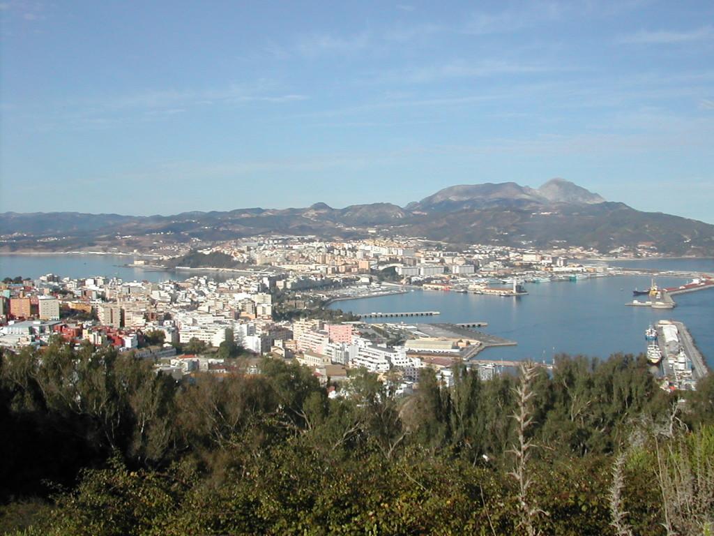 Vista general de Ceuta desde la fortaleza del Monte Hacho