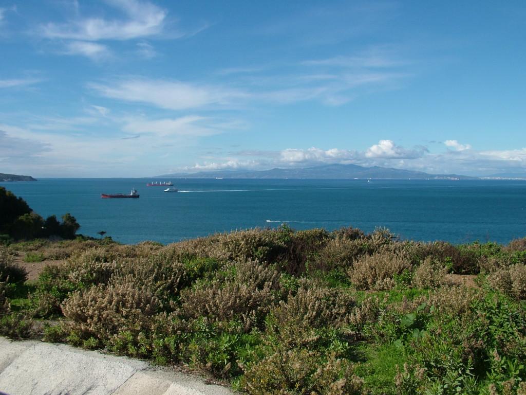 El Estrecho de Gibraltar visto desde Ceuta