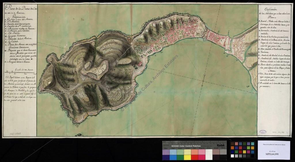 Plano de Ceuta (1771)