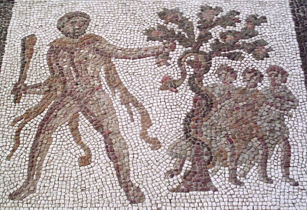 Mosaico que representa el Jardín de las Hesperides