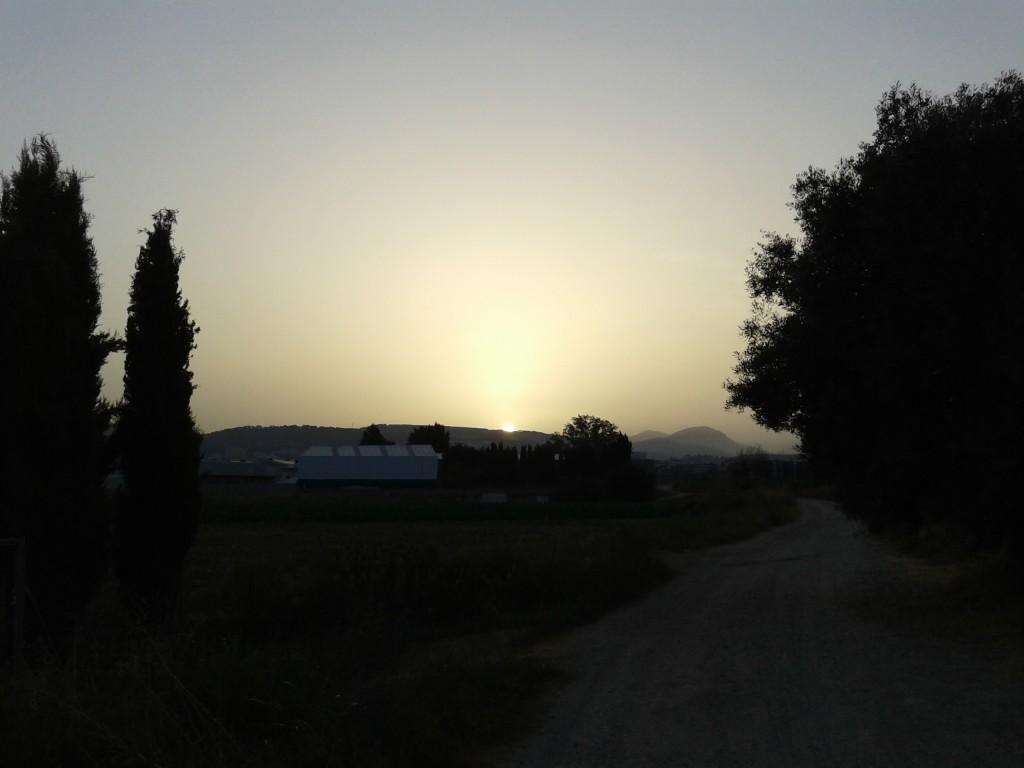 Amanecer en la Vega de Granada