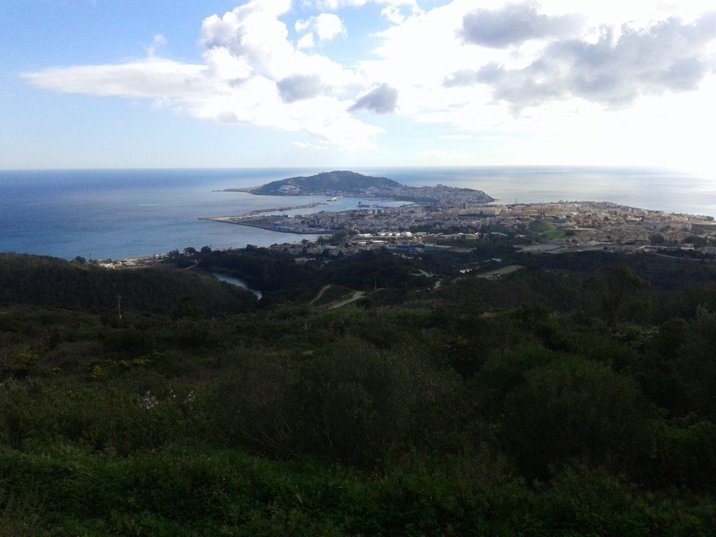 Vista de Ceuta desde el mirador de Isabel II
