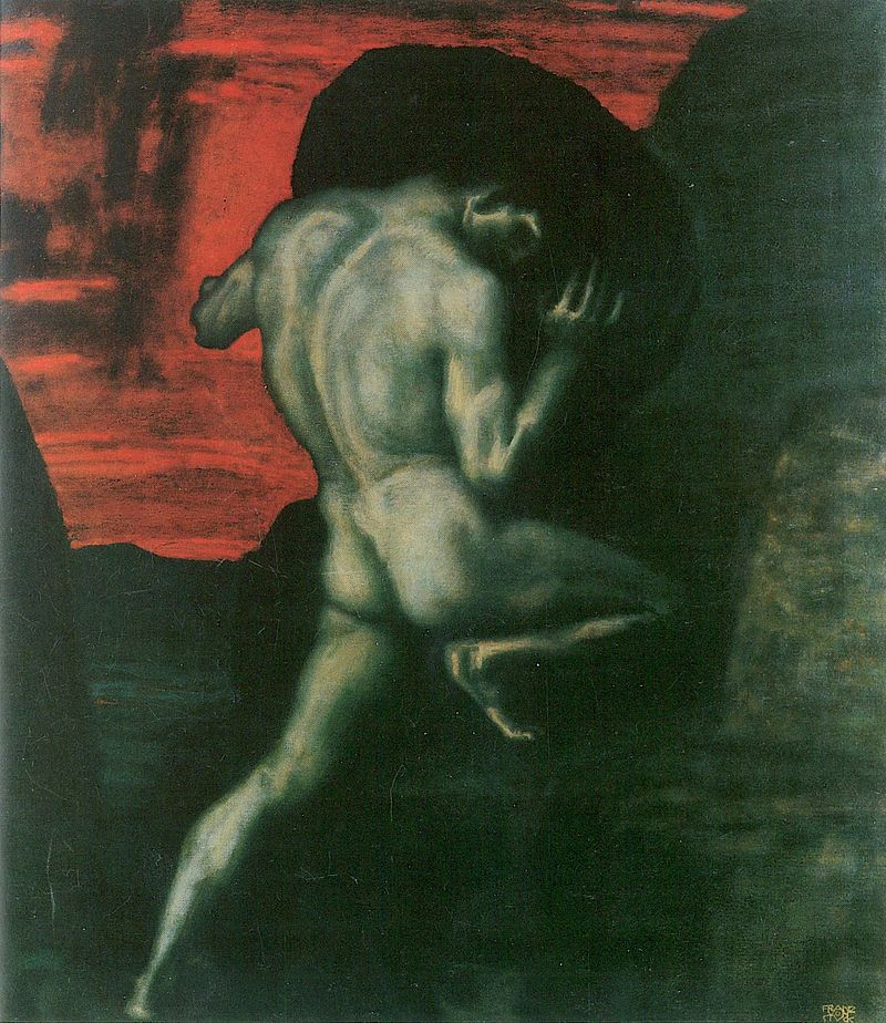 Sisyphus, por Franz Von Stuck