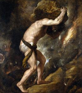 Sisyphus por Tiziano, 1549.