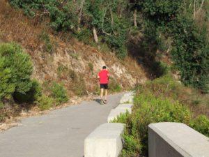 Vecino de Ceuta haciendo deporte