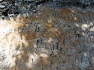 Grafito del siglo XVIII