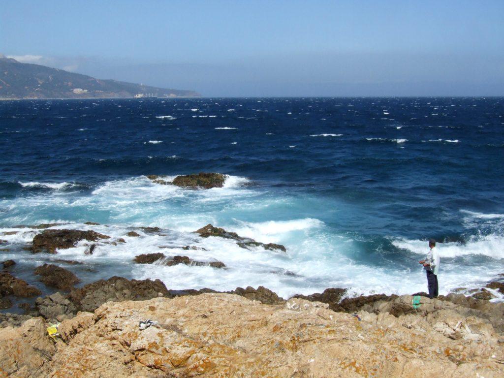 Tramo del litoral entre la punta del Chiclón y San Amaro