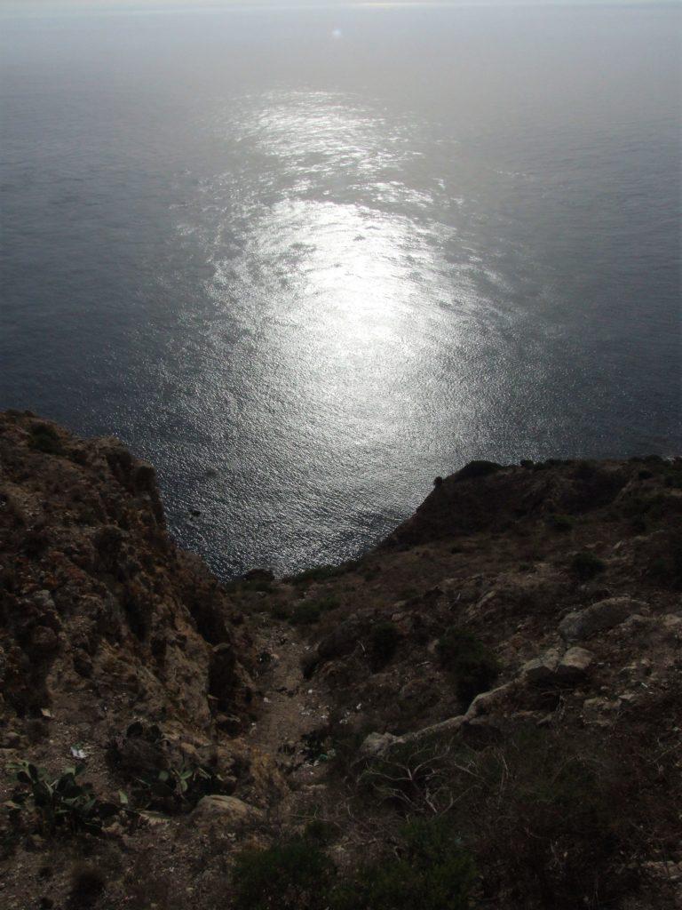 Mar Mediterráneo desde el mirador del faro de Ceuta