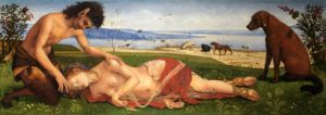 Muerte de Procris por Piero  di Cosimo (1486–1510)